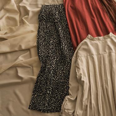 2019秋冬トレンドの選べる柄プリーツスカートの画像
